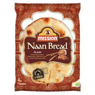 Naan Bread Plain 32 x 70g Frozen Mission