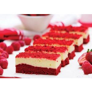 Red Velvet Pre-Sliced Cake 18 x 125g Frozen Priestleys