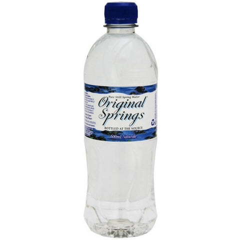 Australian Water Still 24 x 600ml Original Springs