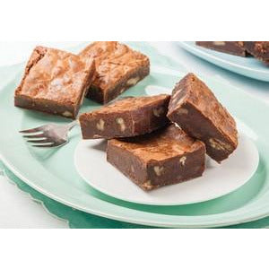 Chocolate Brownie Gluten Free Slice Tray Cake Pre Sliced 15 x 68g Frozen Priestleys