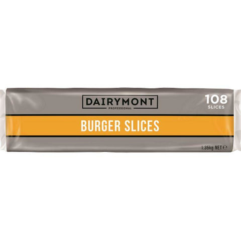 Burger Cheese Slices 108 slices 1.35kg Dairymont