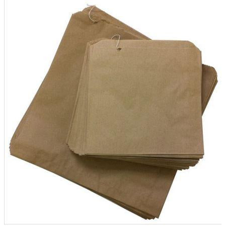 Bags Paper Brown 4F Strung 270 x 240mm 500s