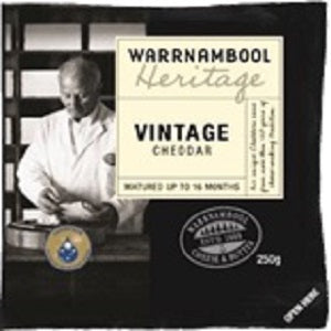 Vintage Cheddar Cheese Heritage 250g Warrnambool
