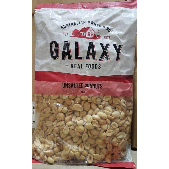 Peanuts Roasted Unsalted 1kg Galaxy