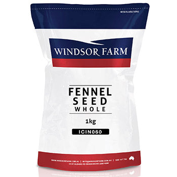 Fennel Seeds 1kg Windsor Farm Resealable bag**Value Buy