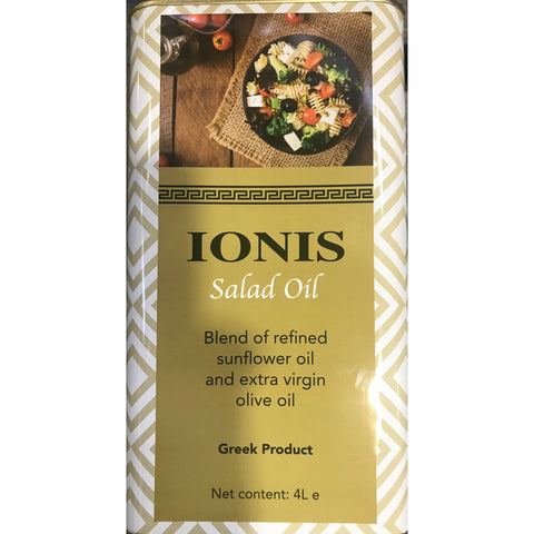 Oil Salad (20%Olive Oil and 80%Sunflower ) 4L Ionis