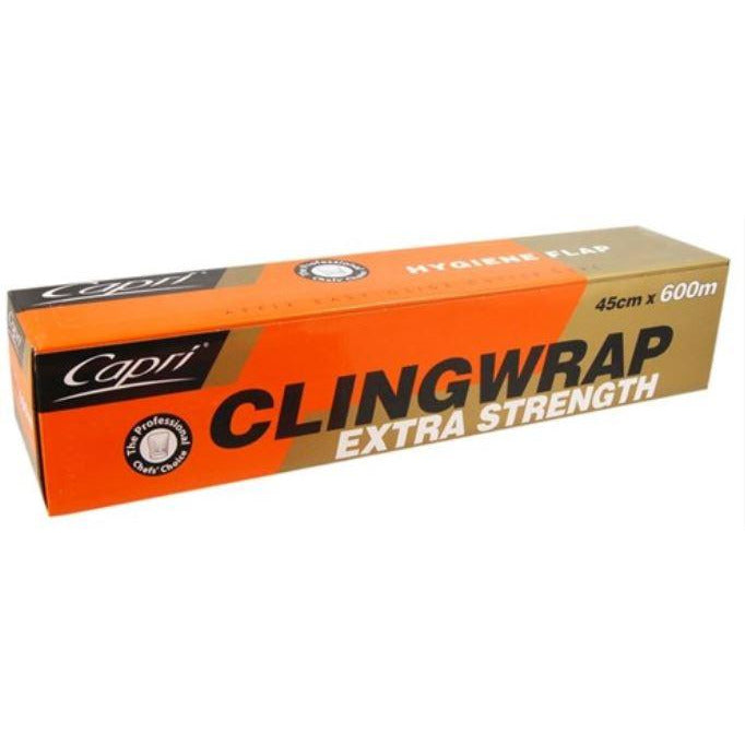 Cling Wrap 600m x 45cm Capri**Value Buy