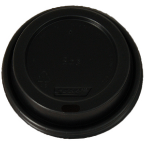 Coffee Cup Lid Black to suit  8oz  Coffee Cup 100's Capri