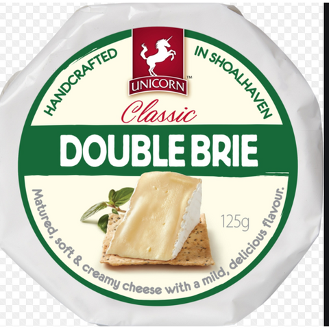 Brie Double Cream 125G Unicorn