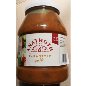 Pickles Mustard Farmstyle 2.55kg Anathoth Farms