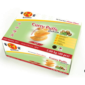 Curry Puffs Medium 2kg Frozen Hakka