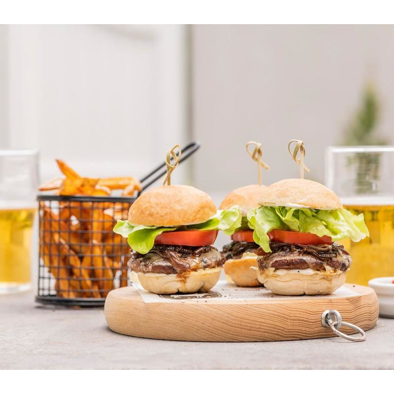 Burgers Beef Slider Par Cooked Bulk 140 x 40g Frozen Angel Bay