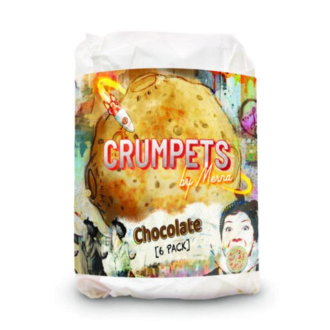 Crumpet Chocolate Crumpets By Merna 4 x 6 pack-Allow 3 days
