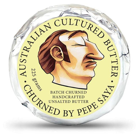 Butter Cultured Unsalted Pepe Saya 225g- Allow 3 days