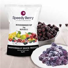 Boysenberries Fruit 1kg A Grade Frozen Speedy Berry