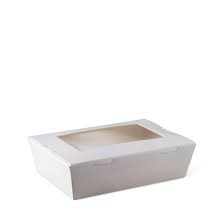 Lunch Box White Medium with window 180x120x50mm 200s Detpak