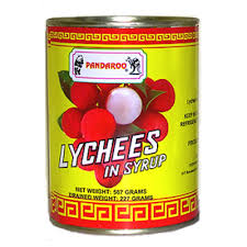 Lychees In Syrup canned 567g Pandaroo