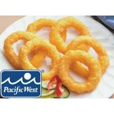 Calamari Rings Tempura 1kg Frozen Pacific West 30 pieces **Value Buy