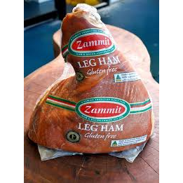 Leg Ham With Bone Christmas 1/2 Double Smoked Gluten Free 5kg Zammit