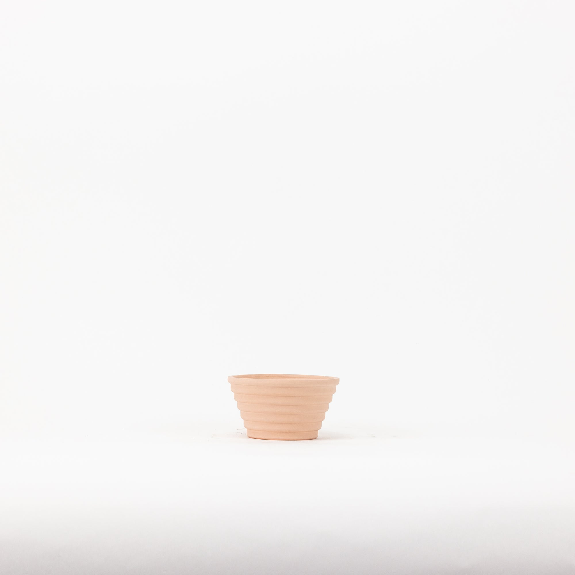 "4"" Rounded Zig Planter - Pink Ecru"