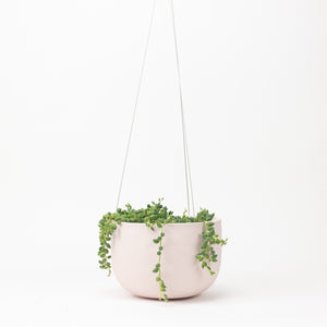 Raw Earth Hanging Planter - Salt