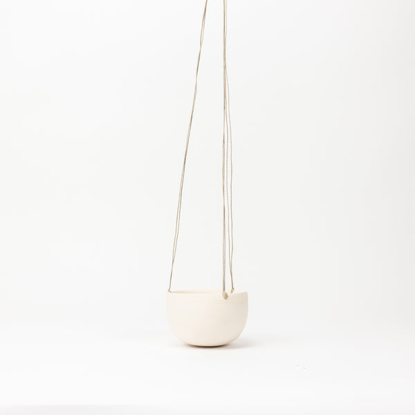 Small Hanging Planter - White