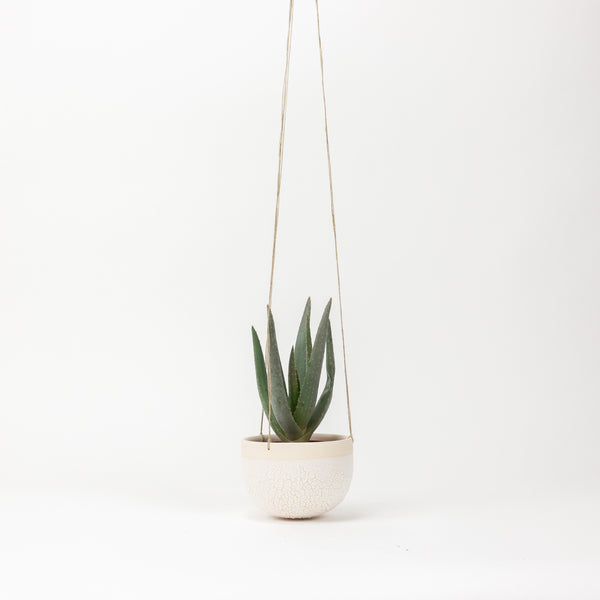 Small Hanging Planter - Crackle