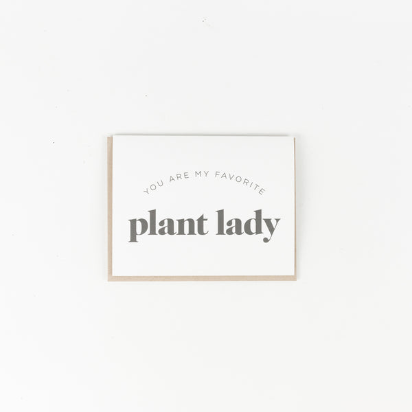My Favorite Plant Lady Greeting Card
