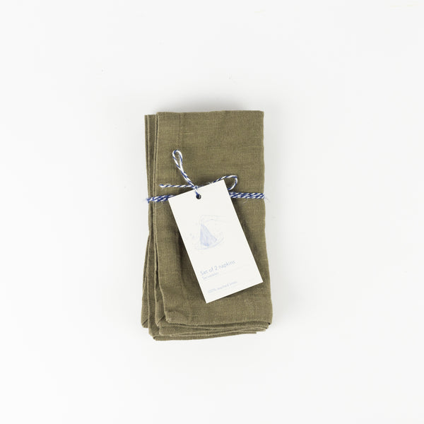 Set of 2 Napkin - Martini Olive