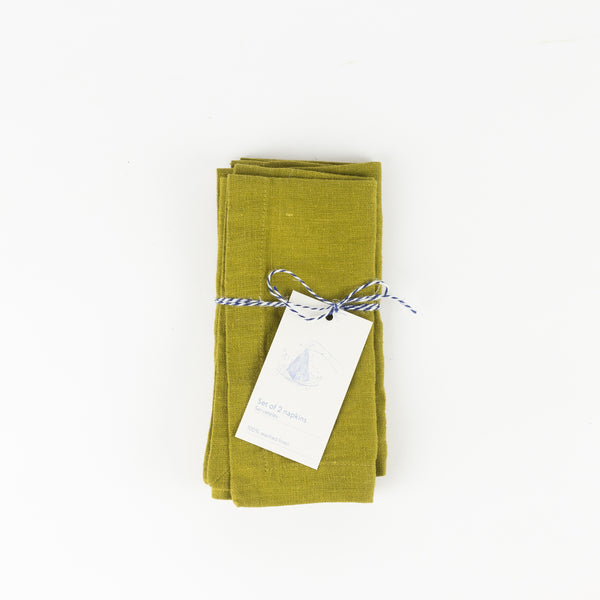 Set of 2 Napkin - Moss Green