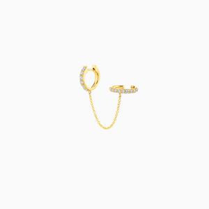 Rania Cuff Earring Gold - MissiMeOfficial