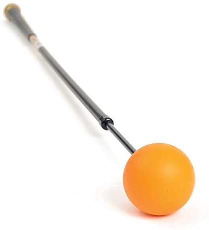 Orange Whip Midsize Golf Swing Trainer Aid for Improved Rhythm, Flexibility, Balance, Tempo, and Strength – 43.5""
