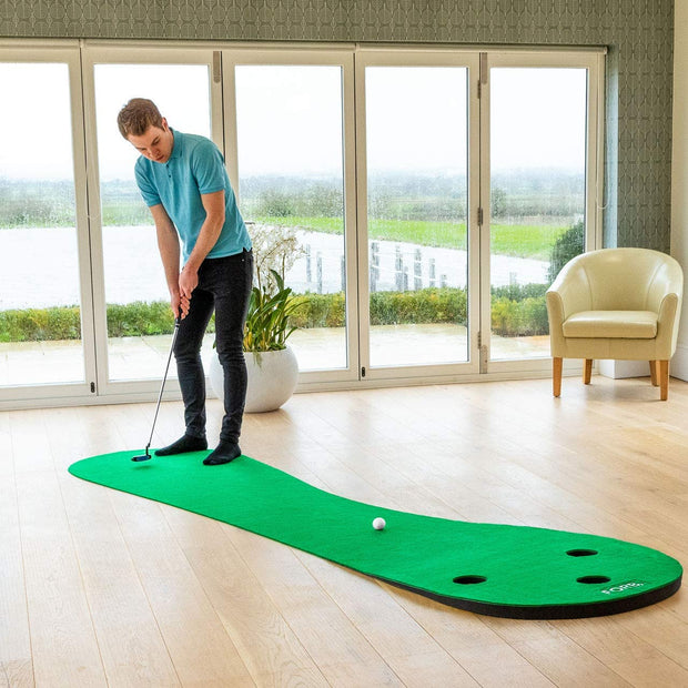 Home Golf Putting Mats [2 Sizes] – Deluxe Indoor Putting Practice (3 Holes)