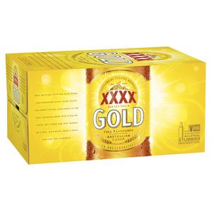 Barrel House Distribution-XXXX Gold Stubbies 375ml-Pubble Alcohol Delivery