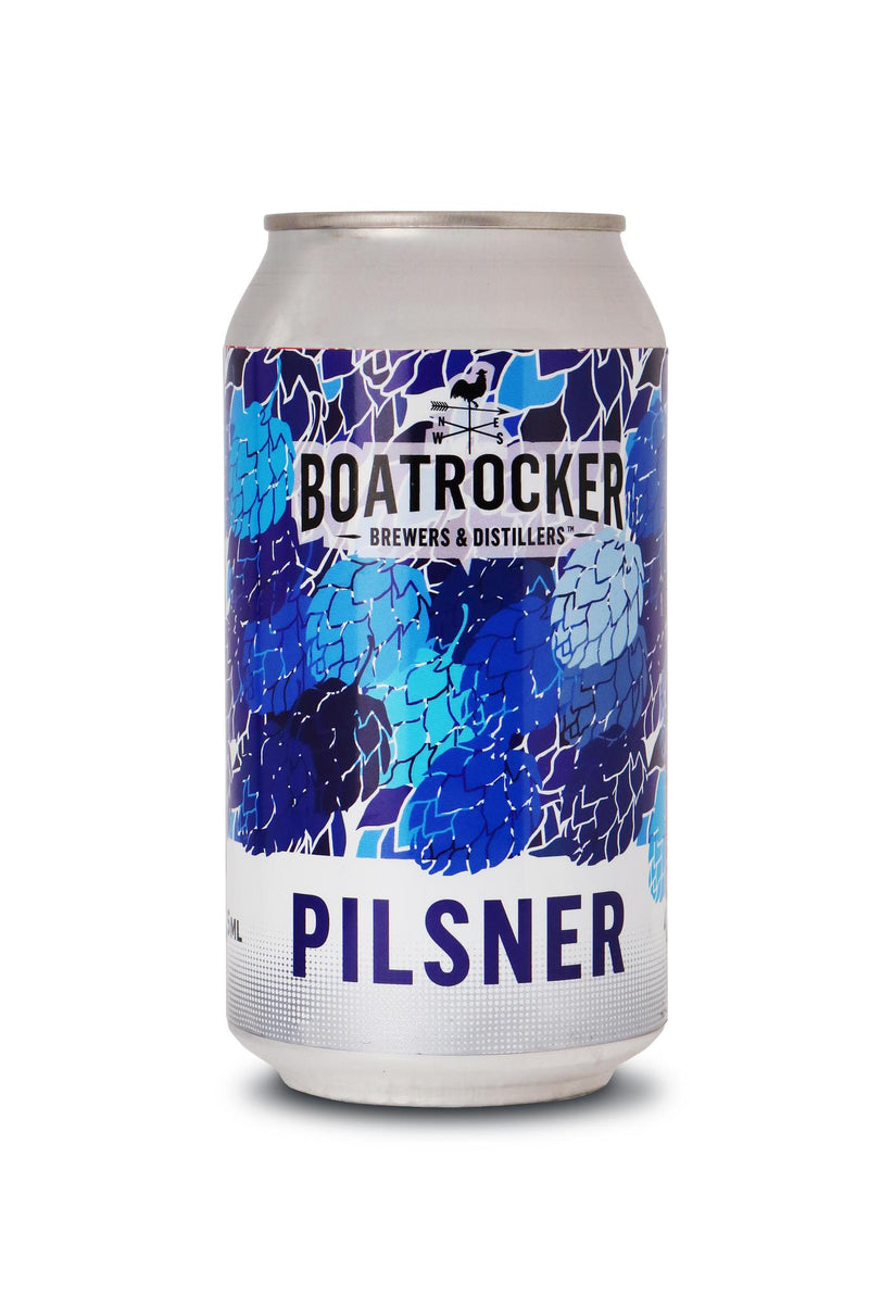 Boatrocker Brewers & Distillers-Pilsner 375ml x 4-Pubble Alcohol Delivery