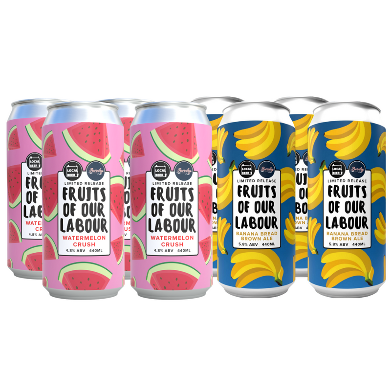 Fruits of our Labour Watermelon + Banana Bread Brown Ale 440ml 2 x 4-Pack - Limited Pre-Sale 21st