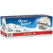 Canadian Club & Cola Cans 375ml 10 Pack
