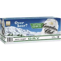 Canadian Club & Dry Zero Sugar Cans 375ml 10 Pack