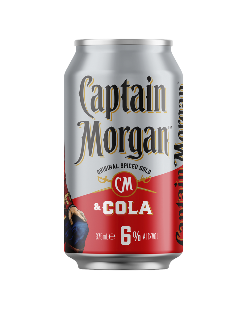 Captain Morgan Original Spiced Gold & Cola 375ml x 4
