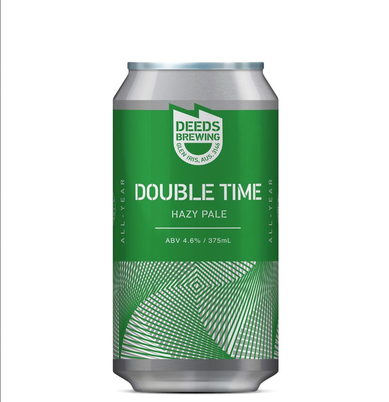 Deeds Brewing-Double Time Hazy Pale 375ml x 4-Pubble Alcohol Delivery