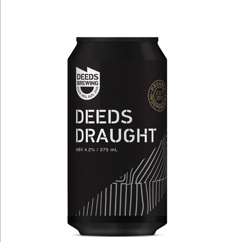 Deeds Brewing-Deeds Draught 375ml x 4-Pubble Alcohol Delivery