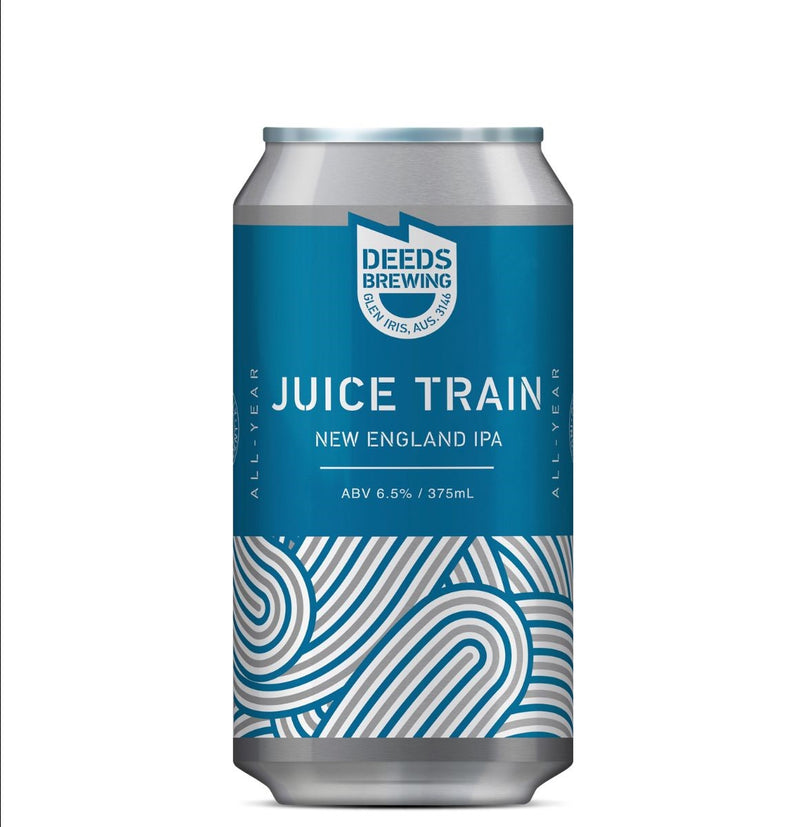 Deeds Brewing-Juice Train NEIPA 375ml x 4-Pubble Alcohol Delivery