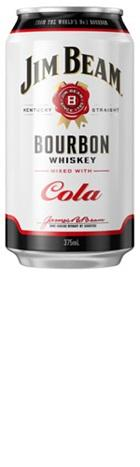 Barrel House Distribution-Jim Beam White & Cola Can 375ml x 24-Pubble Alcohol Delivery