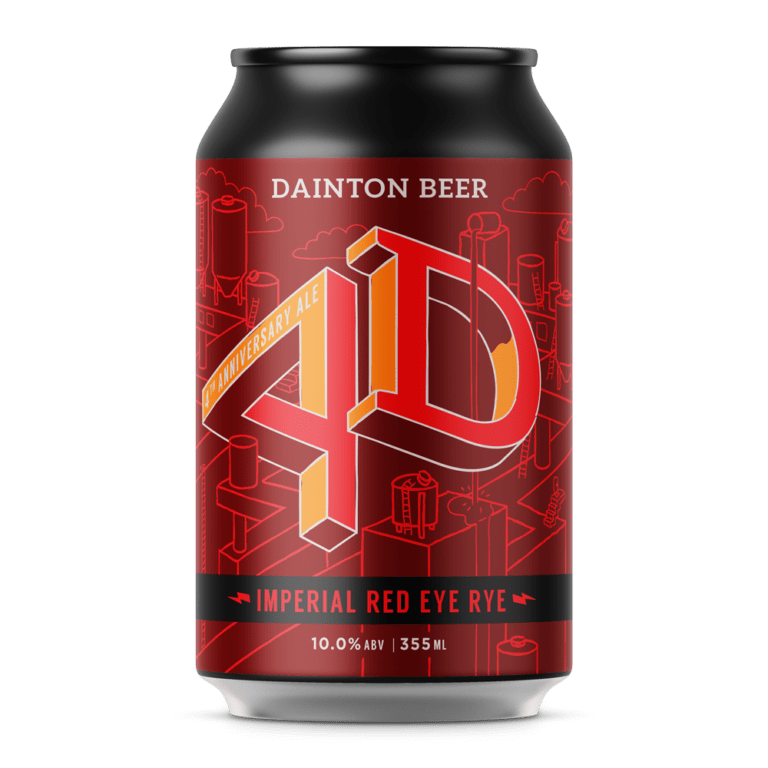 Dainton Brewery-4th Anniversary Imperial Red Eye Rye 355ml x 4 *Limited*-Pubble Alcohol Delivery