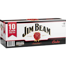 Jim Beam & Cola Cans 375ml 10 Pack