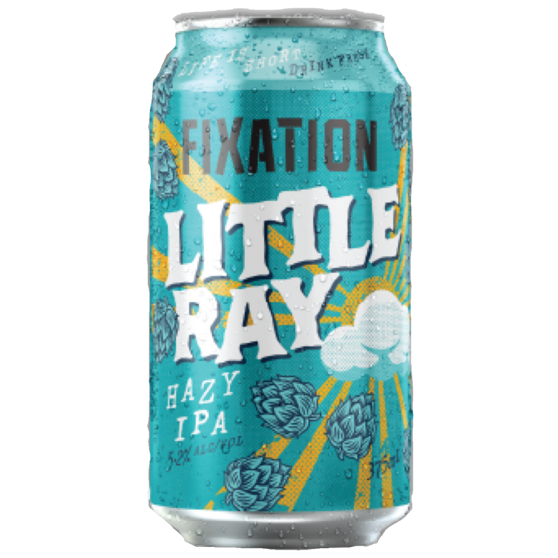 Fixation Brewing Co-Little Ray Hazy IPA 375ml x 4-Pubble Alcohol Delivery