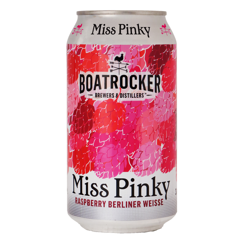 Boatrocker Brewers & Distillers-Miss Pinky 375ml x 4-Pubble Alcohol Delivery