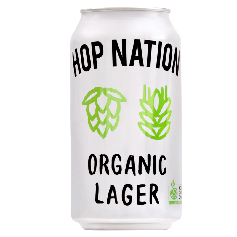 Hop Nation Brewing Co-Organic Lager 375ml x 4 cans-Pubble Alcohol Delivery