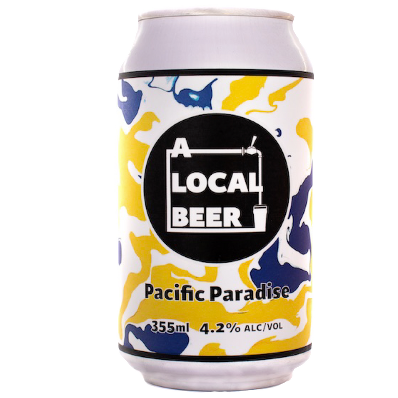 A Local Beer-Pacific Paradise 355ml x 4-Pubble Alcohol Delivery