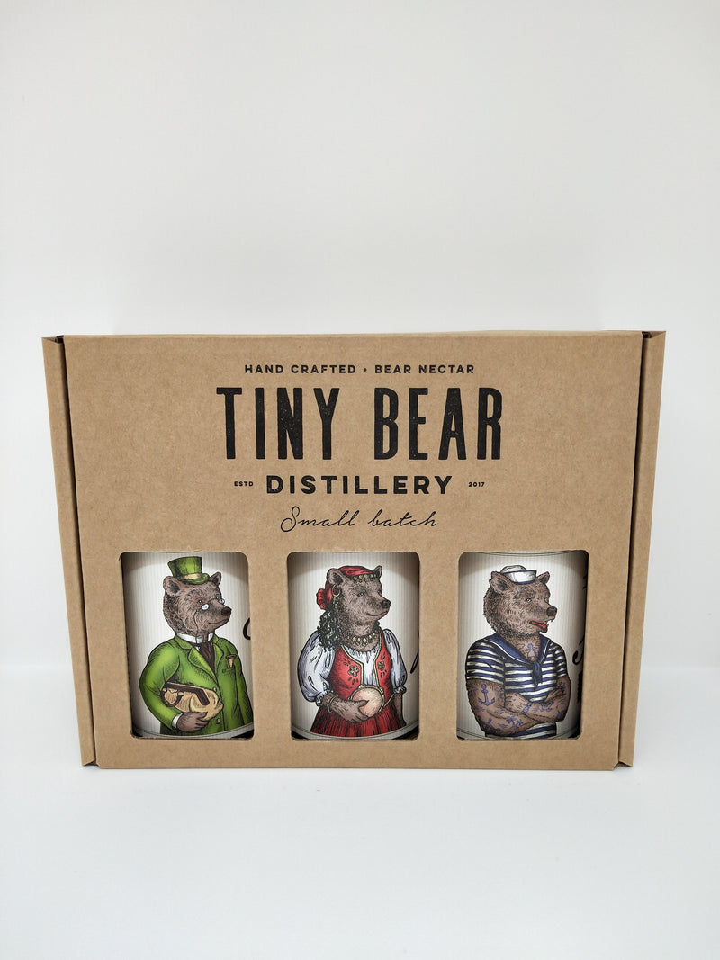 Tiny Bear Distillery-Tiny Bear Distillery Trio pack 200ml x 3-Pubble Alcohol Delivery